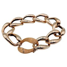 Large Link Bracelet by Cecil Henderson 18k