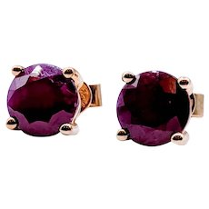 2.5ctw Ruby Stud Earrings