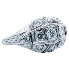 Platinum Vintage Diamond Ring