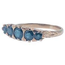 Antique Victorian 5-Stone Sapphire Ring 18k