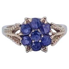 Vintage 7-Stone Amethyst Ring