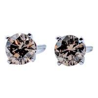 1.00ctw Champagne Diamond Stud Earrings