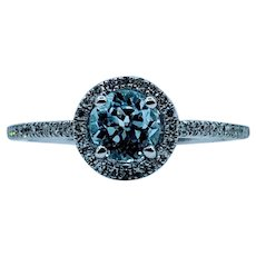 Stunning 1/2ct Aquamarine & Diamond Ring