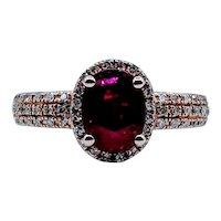 Stunning 1.47ct Ruby & Diamond Ring