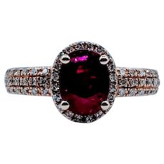 Stunning 1.47ct Ruby & Diamond Ring
