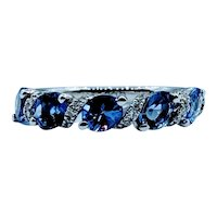 Beautiful  Tanzanite & Diamond Band