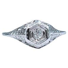 Antique 18k Belais Diamond Ring