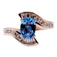 1.04ct Sapphire & Diamond Cocktail Ring