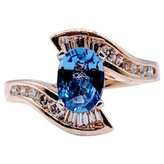 1.04ct Sapphire & Diamond Cocktail Ring