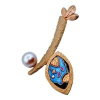 One of a Kind Francis Kite Original Pearl Brooch/Pendant