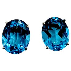 6 ctw Topaz Earrings
