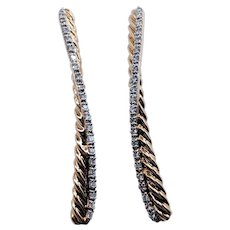 David Yurman Crossover Cable Diamond Earrings