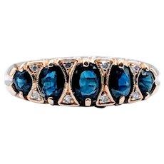 Vintage Oval Sapphire & Diamond Ring