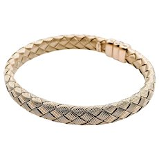 Beautiful Woven Gold Bangle