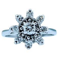 Dazzling .50ctw Vintage Diamond Cluster Ring