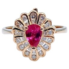 Incredible Convertible Ruby and Diamond Ring/Pendant 18k