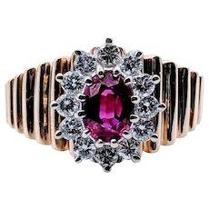 Vintage Natural Ruby & Diamond Ring!