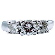 3-Stone 1.00ctw Diamond Ring 14k