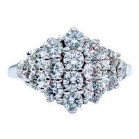 Stunning Custom 1.0ctw Diamond Cocktail Ring