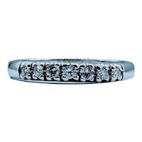 7 Stone 1/4ctw Diamond Band