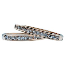 1.00ctw White Diamond Hoop Earrings