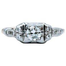 Vintage Diamond Engagement Ring .29ctw