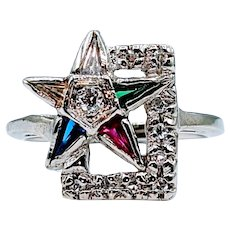 One of a Kind Masonic Star Ring