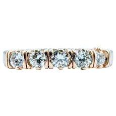 Beautiful 5 Stone .75ctw Diamond Band