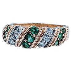 Beautiful Emerald and Diamond Gold Ring