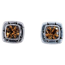 John Hardy Citrine & Sterling Silver Stud Earrings