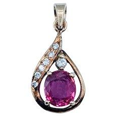Gorgeous Ruby & Diamond Pendant