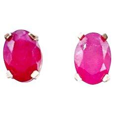 2.00ctw Ruby Earrings