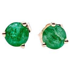 **Saturday Sale** 5mm Natural Emerald Stud Earrings