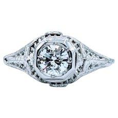 Stunning Mid-Century Diamond Engagement Ring!