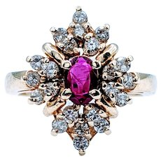 High End Ruby and Diamond Cocktail Ring