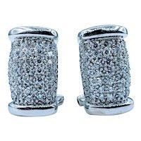 Fashionable 5/8ctw White Gold Diamond Earrings