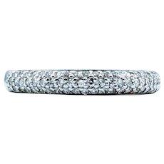 Triple Diamond Row Gold Ring