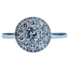 Brilliant .75ctw Diamond Halo Ring
