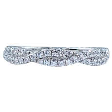 Sparkling 14K Diamond Twist Band