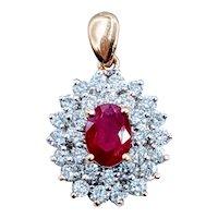 18kt Ruby & Diamond Pendant