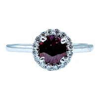 Gorgeous Ruby and Diamond Halo Ring
