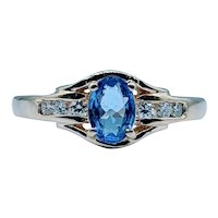 Stunning Tanzanite & Diamond Channel Ring