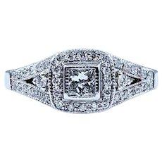 Modern and Stylish Princess Cut White Diamond Ring