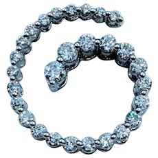 14kt 1/2ctw Diamond Swirl Pendant