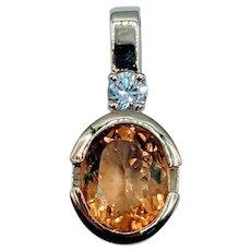 2.50ct Citrine & Diamond Pendant
