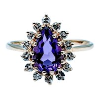 Gorgeous Amethyst & Diamond Ring