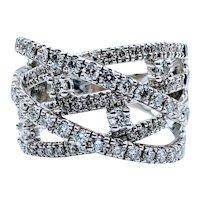 Stunning 3/4ctw Crossover Diamond Band