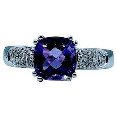Beautiful 7x7mm Amethyst Ring
