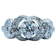 Gorgeous Vintage .62ctw Diamond Cluster Ring