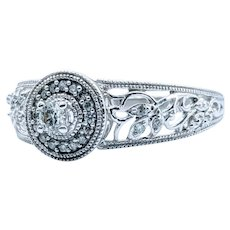 Diamond Floral Engagement Ring